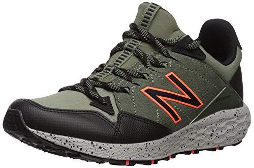 New Balance Boys' Craig V1 Running Shoe, Mineral Green/Black/Alpha Orange, 3 W US Little Kid