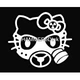 Hello Kitty Gas Mask Die Cut Vinyl Car Decal Window Sticker