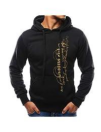 Casual Hoodie Sweatshirt,Men's Long Sleeve Autumn Winter Casual Sweatshirt Hoodies Top Blouse Tracksuits for Men Teen Boys