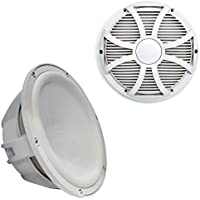 Wet Sounds Revo 10 Subwoofer & Grill - White Subwoofer & White Closed Face SW Grill - 2 Ohm