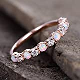Gorgeous Rose Gold Ring Jewelry Filled Pink Fire