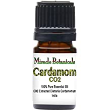 Miracle Botanicals CO2 Extracted Cardamom Essential Oil - 100% Pure Elettaria Cardamomum - 5ml, 10ml, or 30ml Sizes - Therapeutic Grade - 5ml