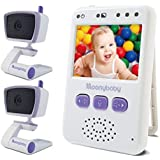 MoonyBaby Handheld Compact Video Baby Monitor, 2 Cameras Pack, EasyCarry, Pocket-Sized Full Color Screen, AUTO Night Vision, Talk Back, Zoom-in, Long Range and Big Battery