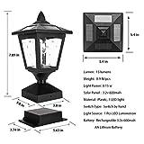 Solar Post Lights Outdoor, Solar Lamp Post Cap