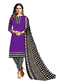 CRAFTSTRIBE Printed Women Bollywood Unstitched Polyester Salwar Kameez Suit Dress Material