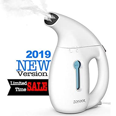 Zonpor Clothes Steamer, Handheld Portable Steamer for Clothes, Fast Heat Up, Powerful Clothing Steamer De-Wrinkle, Clean, Safe Steam Iron Garment Steamer for Home and Travel [Update Version]