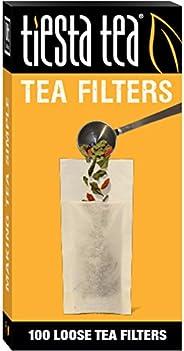 Tiesta Tea | Loose Leaf Tea Filters | 100 Count | Disposable Tea Infuser | 100% Natural Unbleached Paper | Steeps Tea and Co