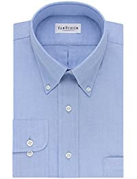 Mens Dress Shirts Regular Fit Oxford Solid Buttondown Collar