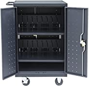 Pearington 20 Device Mobile Charging and Storage Cart for iPads, Chromebooks and Laptop Computers, Up To 17-In