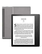 جهاز Kindle Oasis الجديد كليا (الجيل العاشر)، مزود بإضاءة دافئة قابلة للتعديل، شاشة مقاس 7 انش، مقاوم للماء، سعة 32 جيجا، واي فاي، لون رمادي