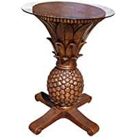 Hospitality Rattan Cancun Palm Pineapple Pub Table