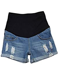 9bc8f5c0b87bf Thin Shorts Plus Size Summer New Jeans Pregnant Women Maternity Shorts  Linen Pants Care Belly Denim