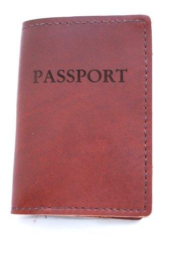 Rustico Genuine Leather Passport Holder, Saddle Brown
