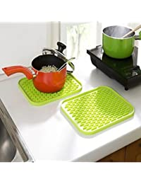 Gain 100% Silicone Nonslip pad Bowl Saucepan Insulated Heat Mat Random Color deliver