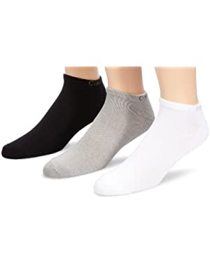 Calvin Klein 3-Pack Coolmax Cotton Athletic Men's Trainer Socks, Multi