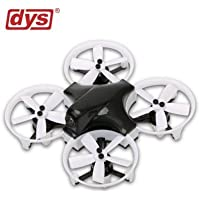 DYS ELF Ready-to-Fly 83mm Micro FPV Drone/Racer - Black/ White Props