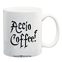 ACCIO COFFEE! - Funny Harry Potter Coffee or Tea Cup 11 / 15 oz Mug for Wizards by BeeGeeTees® (11 oz) by BeeGeeTees