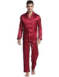 Tony & Candice Men's Classic Satin Pajama Set Sleepwear