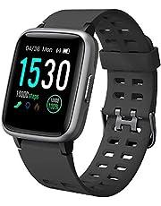 YAMAY Smartwatch Orologio Fitness Uomo Donna Impermeabile IP68 Activity Tracker Cardiofrequenzimetro da Polso Contapassi per Android iOS Smartphone 14 modalità Sportive Salute Femminile Cronometro