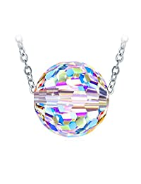 "Necklace, Crystals from Swarovski Gifts for Women ZHULERY ""Big World"" 925 Sterling Silver Pendant Necklace, with Exquisite Package"