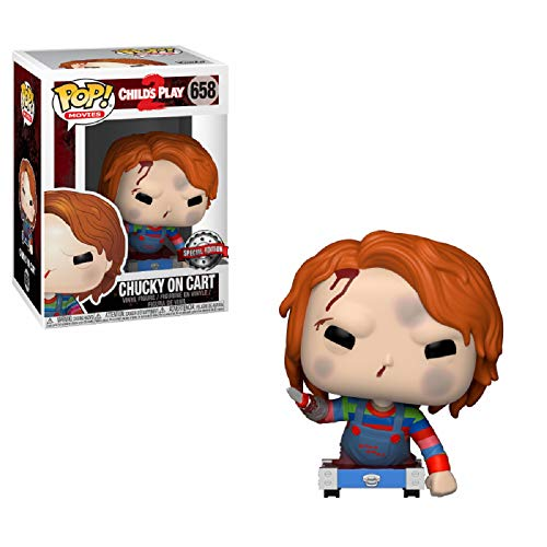 Funko - Child S Play-Chucky On Cart Exclusive Figurina, Multicolor, 3