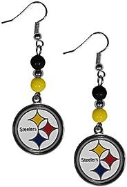 Siskiyou Sports NFL Pittsburgh Steelers Fan Bead Dangle Earrings