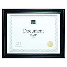 Kiera Grace Embassy Document Frame, 8.5 X 11-Inch, Black