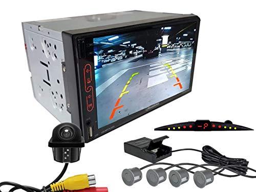 Multimidia Mp7 RS-707MP7 Com Câmera De Ré RS-122BR E Sensor De Estacionamento RS-204BR CINZA