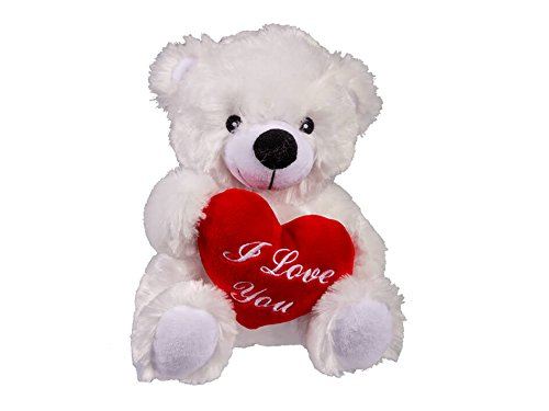 OOTB- Oso de Peluche con corazon Rojo, I Love You, Multicolor, Aprox 22 cm (out of The Blue 61/6