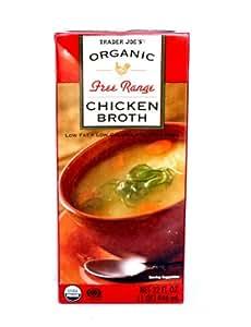 Amazon.com : Trader Joe's Organic Free Range Chicken Broth ...