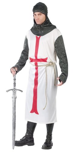 FunWorld Templar Knight, White, One Size Costume -