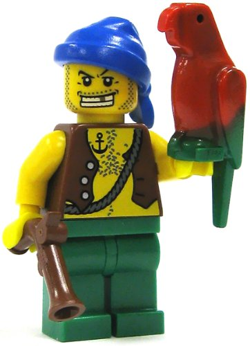 LEGO Pirate LOOSE Mini Figure Pirate (Pistol and Parrot)