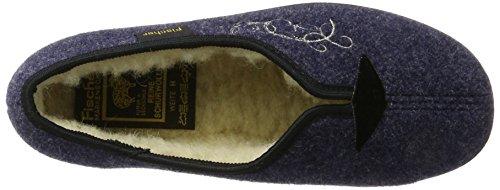 Dora Donna A Basso blau Fischer 555 Pantofole Blu Collo gAdpxZwq