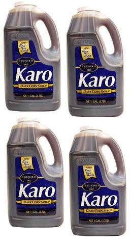 Karo Corn Syrup Blue Label Blend Dark 1 Gallon -- 4 Case by Karo