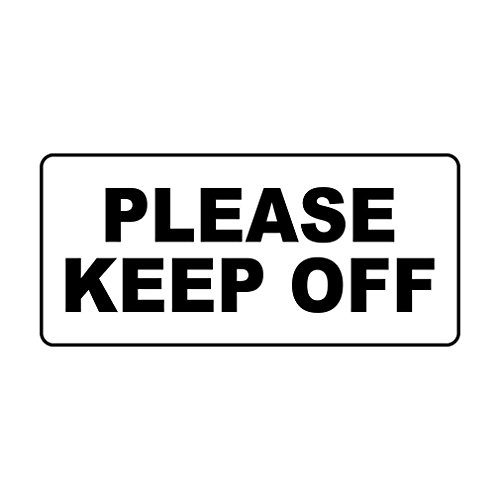 Please Keep Off Black Retro Vintage Style Sign with HolesVinyl Sticker Decal 8