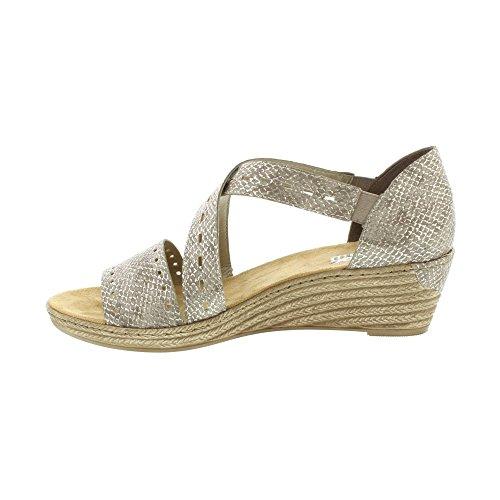 Rieker Woman Mussurana Sandal Silver nkpp77UqU