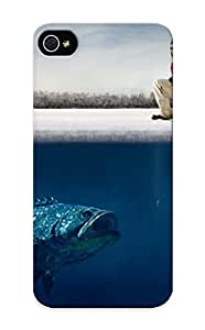 3f30703329 Snap On Case Cover Skin For Iphone 5/5s(funny Guy Ice Big Fish Hooks Humor Fisherman Winter Fishing )/ Appearance Nice Gift For Christmas
