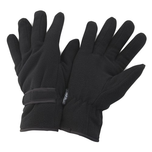 FLOSO Mens Thinsulate Winter Thermal Fleece Gloves (3M 40g) (Medium) (Black) (Thermal Fleece Mittens compare prices)