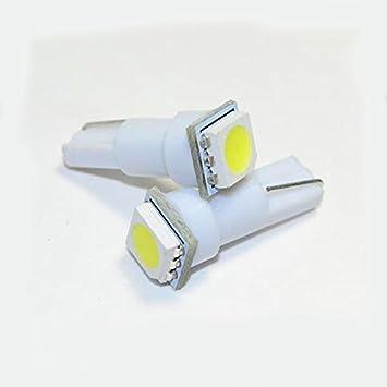 Unipower TMT LEDS(TM) 5 X BOMBILLAS LED T5 1 LED SMD 5050 BLANCO SALPICADERO: Amazon.es: Coche y moto