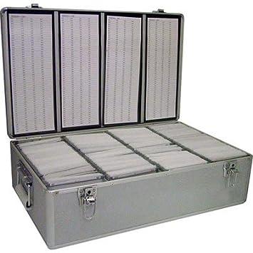Neo - Caja de almacenaje para CD o DVD (aluminio, incluye fundas para 800 discos): Amazon.es: Informática