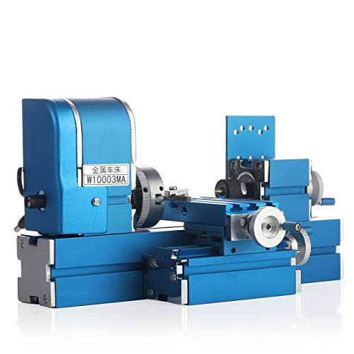 Mini Metal Lathe Machine CNC DIY Tool Benchtop Wood Lathes Motorized Motor Woodworking for Hobby 24W 20000rpm