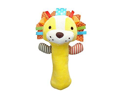 Cartoon Lion Stuffed Animal Toys Baby Soft Plush Hand Rattle Infant Dolls