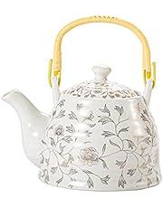 Housoutil Keramisk tekanna blomma tekanna med infuser kinesisk kungfu tekanna porslin japansk vattenkokande kaffekanna för hemmakontor kök