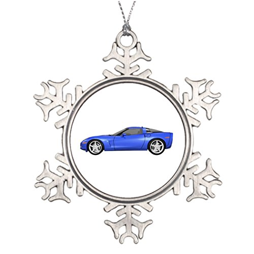 7th Gener Ideas For Decorating Christmas Trees 2008 Corvette Sports Car Blue Finish Photo Christmas Snowflake Ornaments 2008 Unique Christmas Tree Decorating Ideas