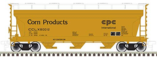 Atlas N Scale ACF 3560 Covered Hopper Car Corn Products Corp/CCLX/Yellow #80004