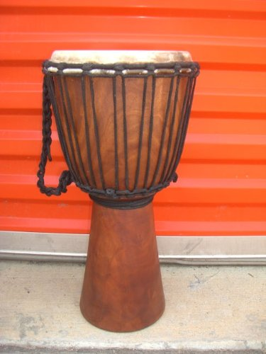 20'' X 10-11'' Deep Carved Djembe Bongo Drum, Bonus Free Cover Model # 50PL by madedrums