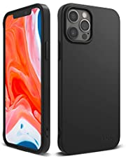Ringke Air-S TPU Case Compatible with iPhone 12, Compatible with 12 Pro, Premium Matte Shockproof Silicone-Feel Flexible Slim Phone Back Cover - Black