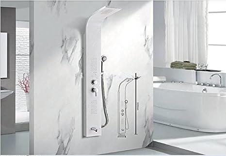 Gowe marble art rain colonna doccia idromassaggio miscelatore vasca