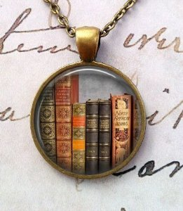 Steampunk Ideas (Library Book Necklace, Librarian Pendant, Bibliophile, Classic Literature, Book Quote, Literary, Literacy, Gift Idea, Book Lovers, Read (8))