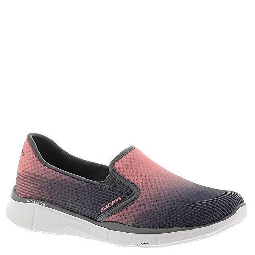 Skechers Womens Equalizer Space Out Slip On Sneaker Charcoal / Pink